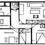 Ferienhof Hund | Grundriss der Wohnung 1